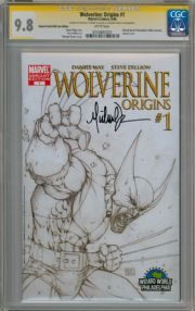 Wolverine Origins #1 Wizard World Philly Sketch Variant CGC 9.8 Signature Series Signed Michael Turner Marvel comic book